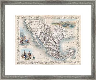 Antique Southwest Map 1851 Framed Print