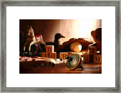 Antique Spinning Top Framed Print by Olivier Le Queinec