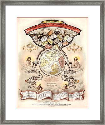 Antique Spiritualism Map Framed Print by Gary Grayson