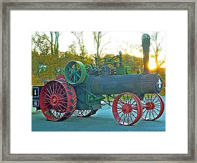 Antique Steam Tractor Framed Print by Pete Trenholm