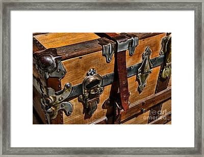 Antique Steamer Truck Detail Framed Print