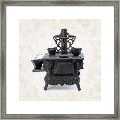 Antique Stove Framed Print