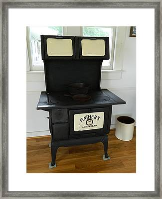 Antique Stove - Mather's Arrowhead Framed Print by George Pedro