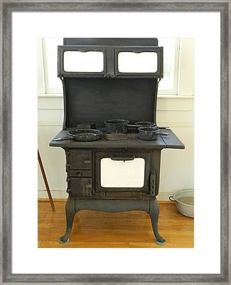 Antique Stove Number 2 Framed Print by George Pedro