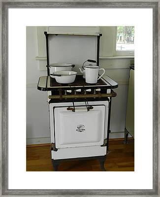 Antique Stove Number 3 Framed Print by George Pedro