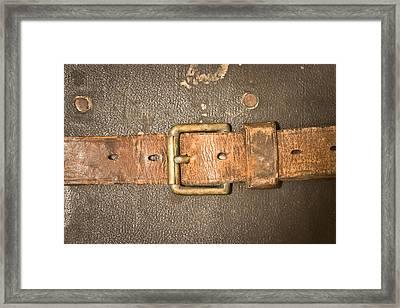 Antique Strap Framed Print by Tom Gowanlock