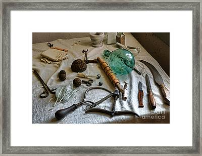 Antique Surgery Tools Framed Print by Olivier Le Queinec