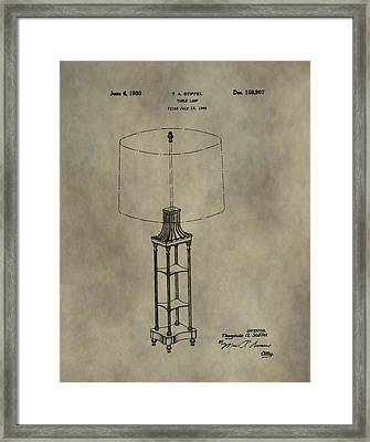 Antique Table Lamp Patent Framed Print