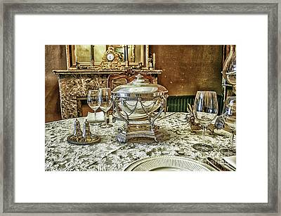 Antique Table Setting Framed Print by Patricia Hofmeester