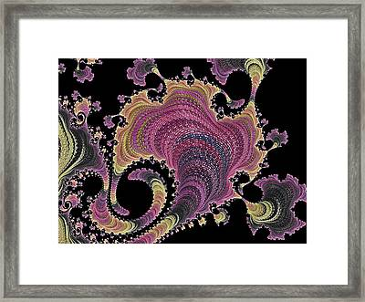 Framed Print featuring the digital art Antique Tapestry by Susan Maxwell Schmidt