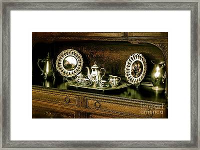 Antique Tea Set Framed Print by The Art of Alice Terrill