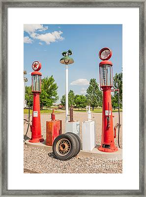 Antique Texaco Pumps Framed Print