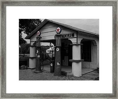 Antique Texaco Visible Gas Pumps Framed Print