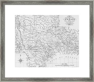 Antique Texas Map Framed Print