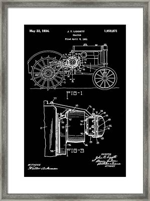 Antique Tractor Patent Framed Print