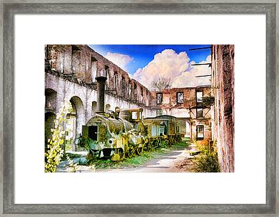 Antique Train Framed Print by Chuck Staley