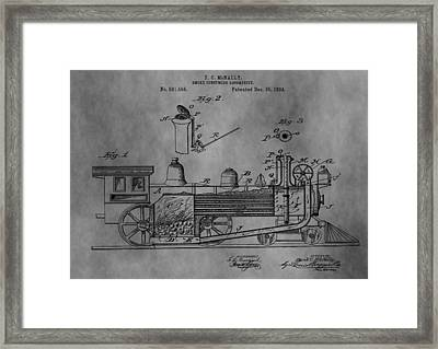 Antique Train Patent 1894 Framed Print by Dan Sproul