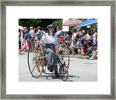 Antique Tricycle Framed Print