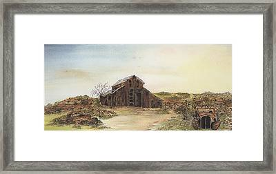 Antique Trilogy Hide And Seek Framed Print by Meldra Driscoll