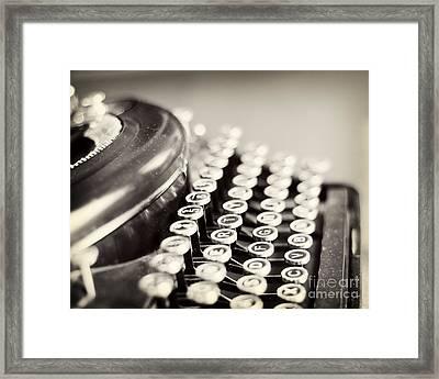 Antique Typewriter Framed Print by Ivy Ho