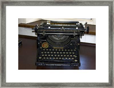 Antique Typewriter Framed Print by Sally Weigand