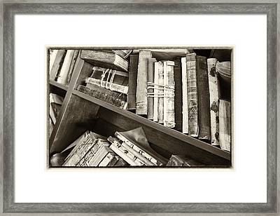 Antique Vintage Hardcover Books Framed Print