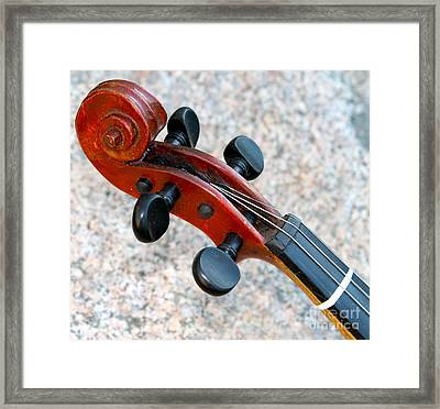 Antique Violin Framed Print