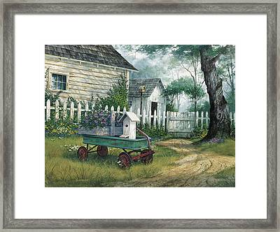 Antique Wagon Framed Print by Michael Humphries