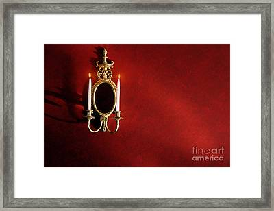 Antique Wall Sconce Framed Print by Olivier Le Queinec