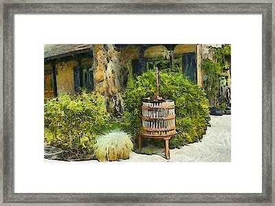 Antique Wine Press 3 Framed Print