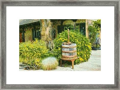 Antique Wine Press 4 Framed Print