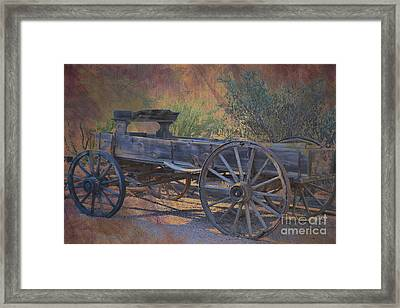 Antique Wooden Wagon Framed Print