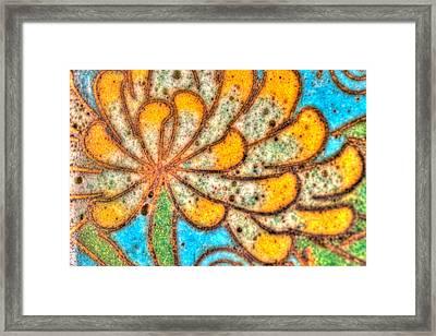 Antique Yellow Flower Framed Print