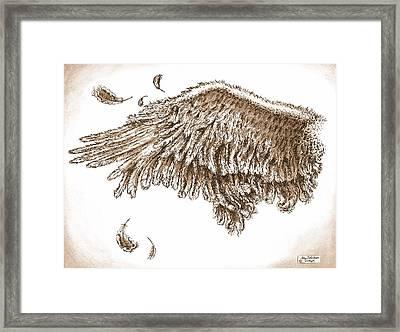 Antiqued Wing Framed Print by Adam Zebediah Joseph