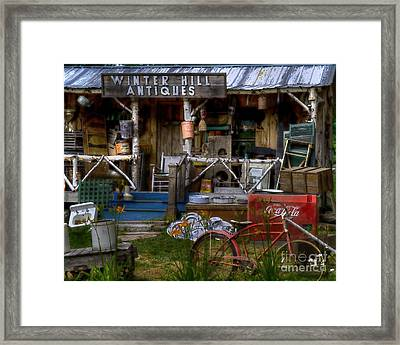 Framed Print featuring the photograph Antiques by Alana Ranney