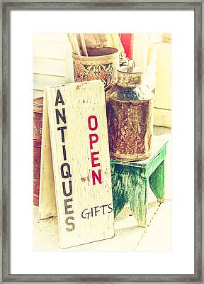 Antiques And Gifts Framed Print