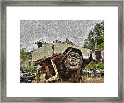 Antiques Broken Framed Print