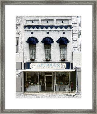Antiques On The Square Framed Print