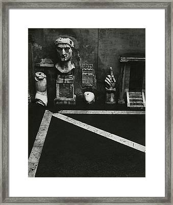 Antiquities At Capitoline Museum Framed Print