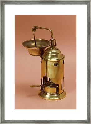 Antiseptic Spray Framed Print by Science Photo Library