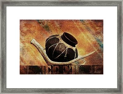Antler And Olla Framed Print by Karen Slagle