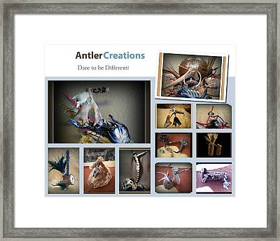 Antler Creations Dare To Be Different Framed Print by Alice  Kunka