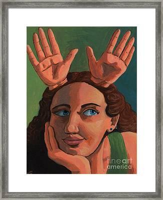 Antlered Girl Framed Print