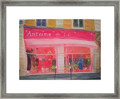 Antoine & Lili, 2010 Oil On Canvas Framed Print by Antonia Myatt