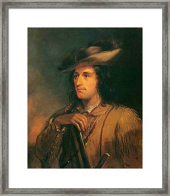 Antoine Clement The Great Hunter Framed Print by Alfred Jacob Miller