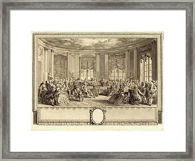Antoine-jean Duclos After Augustin De Saint-aubin Framed Print by Litz Collection