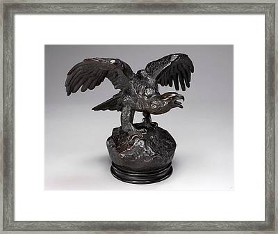 Antoine-louis Barye, Eagle With Wings Outstretched And Open Framed Print by Litz Collection