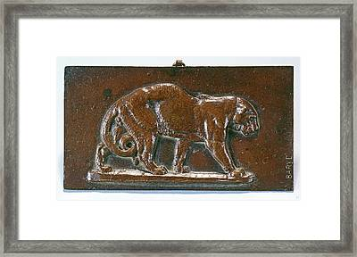 Antoine-louis Barye, Walking Panther, French Framed Print by Litz Collection