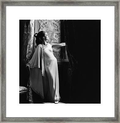 Antonella Agnelli In The Palazzo Doria In Rome Framed Print