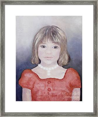 Antonia Portrait Framed Print